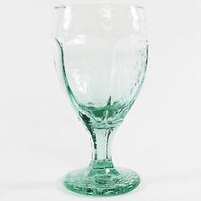 4 Libbey Chivalry Rock Sharpe Green Water Stemware Goblets