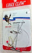 CRAPPIE RIG, SIZE 6, TWO HOOKS, EAGLE CLAW, MODEL RGCR-6, 06010W-006