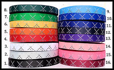 "3yds 7/8"" Field Hockey Sticks & Ball   16 Ribbon Colors Grosgrain Ribbon"