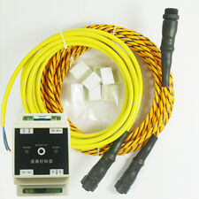 KiaoTime Water Leak Detector Alarm System with 5m Sensor Cable 3m Leader Wire