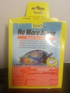 Tetra No More Algae Tablets 8 Count, Controls Algae In aquariums, CLEAR WATER