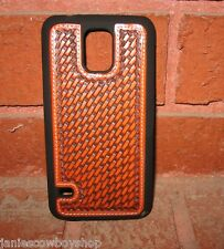 WESTERN CELL PHONE CASE BASKET WEAVE SAMSUNG GALAXY S5 COWBOY COWGIRL ACCESSORY