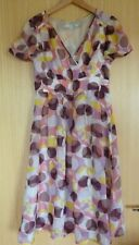 Boden Ladies Dress 8 Spotty Smart Casual Summer Holiday Races Floaty WH359