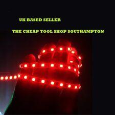 RED LED FOOTWELL/INTERIOR STRIP LIGHTING 2 x 30CM STRIPS BRAKE LIGHT MOOD LIGHT