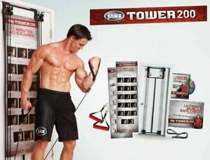 TOWER 200 DOOR GYM BODY BY JACK STRENGTH RESISTANCE STRAPS TRAINER 200 Pounds