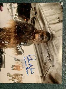 "PETER MAYHEW SIGNED AUTOGRAPH STAR WARS ""CHEWBACCA"" 8x10 W/COA PHOTO"