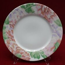 """DESHOULIERES, PHILIPPE Limoges china FLEURS pattern Dinner Plate - 10-3/8"""""""