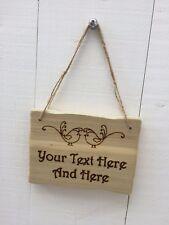 Handmade Personalised Rustic Wooden Birds Child's Room Den Garden Sign Plaque