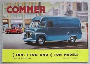 COMMER ¾, 1 & 1 ½ TON MODELS Van & Pick Up Sales Brochure 1960-61 #723/B