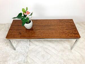 Vintage Imported Mid Century CHROME BLACK BEAN Coffee Table Knoll Parker Danish