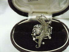 925 sterling silver wide band ring marcasite studded gecko or lizard design