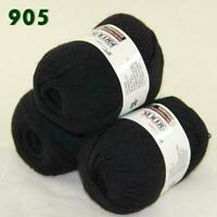 Sale Lot of 3 Skeins x50g LACE Soft Acrylic Wool Cashmere hand knitting Yarn 905