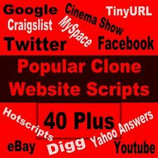 40 Plus Most Popular Clone Website Scripts Ready to upload  with Reseller Right.