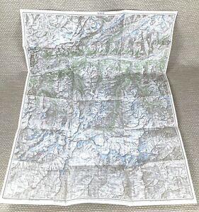 1934 Antique Map of Switzerland Visp Swiss Canton Valais Zermatt Sion Brig