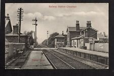Cleveleys Railway Station - printed postcard