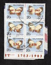 Guyana #668 Block Of 6 On Piece, Manned Flight Bicentennial & Guyana Airways