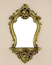 Wandspiegel mit Ablage Deko-Spiegel Barock-Spiegel Konsole Spiegel Antik Gold