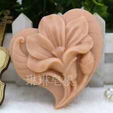 lily Silicone Soap Candle Mould flower Cake Decor Sugarcraft Handmade DIY Mold