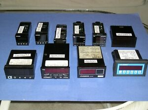 Collection of ten Omega panel meters