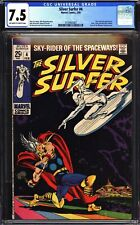 Silver Surfer #4 CGC 7.5 Very Fine- OW-W  Classic vs Thor cover, Buscema art!