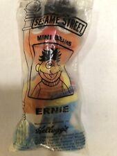 """Vintage 1999 Kelloggs Sesame Street Mini Bean Ernie Plush 4"""" NOS"""