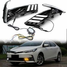 2pcs LED Daytime Running Lights Turn Signal Lamp DRL for Toyota Corolla Altis 17