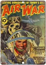 "Pulp Magazine Air War 10"" x 7"" reproduction metal sign"