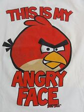 "Angry Birds ""This is my Angry Face"" Boys T-Shirt (Large)"
