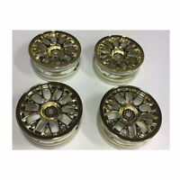 TAMIYA 54736 Plated Medium-Narrow Mesh Wheels 4 Pcs. (Gold, Offset +2) TA06/TA07