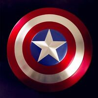 ESCUDO CAPITAN AMERICA Cosplay, hecho en metal Escala 1/1,  60 cm, metal Shield