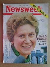 NEWSWEEK magazine May1 1967 STALIN's Daughter-KONRAD ADENAUR-EXPO '67 Montreal