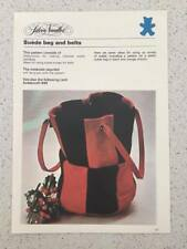 Silver Needles Suede Bag and Belts Sewing Pattern Vintage