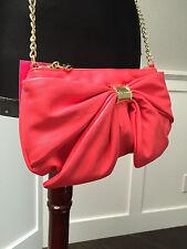 NWT Betsey Johnson Rare Signature Large Bow Crossbody Handbag bag Guava xbody