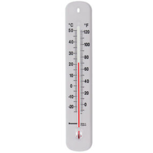 WALL THERMOMETER - GREENHOUSE GARDEN HOME INDOOR OUTDOOR OFFICE ROOM - 14/435/3