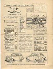 Triumph Mayflower Type 1200T 1950-51 Motor Trader Service Data No.180 1951