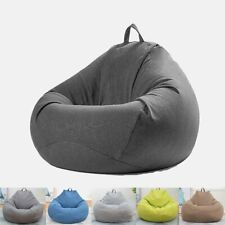 Extra Large Bean Bag Chair Lazy Sofa Cover Indoor Outdoor Game Seat Bean Bag