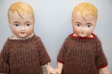 "7"" German All bisque All original Twin boys Rare"