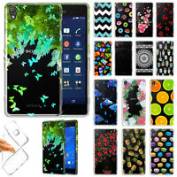 For Sony Xperia Z3 Various Design TPU Clear Silicone Gel Skin Back Case Cover