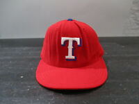 VINTAGE Texas Rangers Hat Cap Fitted 7 Red Blue New Era Wool Baseball Mens 90s