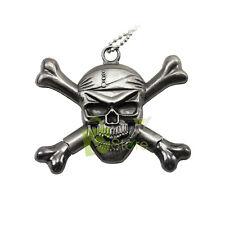 Fantasy Pirate Skull and Hidden Blade Necklace Knife Letter Opener