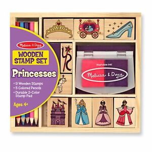 Melissa And Doug Princesses Wooden Stamp Set NEW IN STOCK