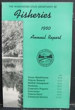 1950 Washington State Dept of Fisheries Annual Report 143 Pages