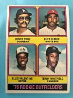 1976 Topps Baseball Card #590 Rookie Outfielders Cruz/Lemon/Valentine/Whitfield