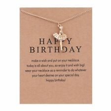 Girl's Gold Plated Ballerina Pendant Necklace With Card Message Gift Birthday