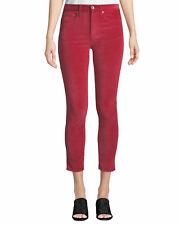 Rag & Bone Womens Red Velvet High Rise Colored SKINNY Jeans 25 BHFO 6413