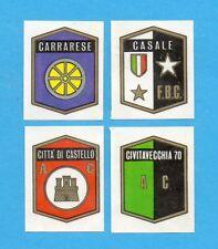 FIGURINA PANINI 1972/73-n.547-CARRARESE+CASALE+CITTA' CASTELLO+CIVITAVECCHIA-Rec