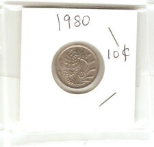 Offer>Singapore 10 cents 1980  Fish coin  lustre/high grade! ??