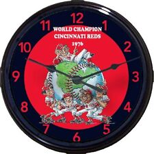 Cincinnati Reds 1976 World Series Wall Clock Pete Rose Sparky Anderson Bench New