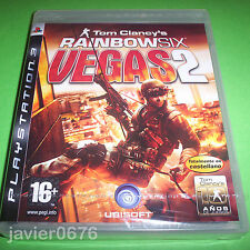TOM CLANCY`S RAINBOW SIX VEGAS 2 NUEVO PRECINTADO PAL ESPAÑA PLAYSTATION 3 PS3