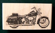 """P24  Miniature motorcycle rubber stamp WM 0.4x0.9"""""""